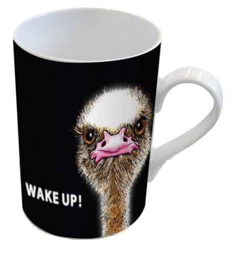DESIGN@HOME Henkelbecher Tasse - Wake Up!