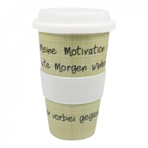Mea-Living Coffee to Go 400 ml Becher Meine Motivation...