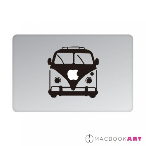 MACBOOKART Designsticker für Apple Produkte - Retro Hippie Car