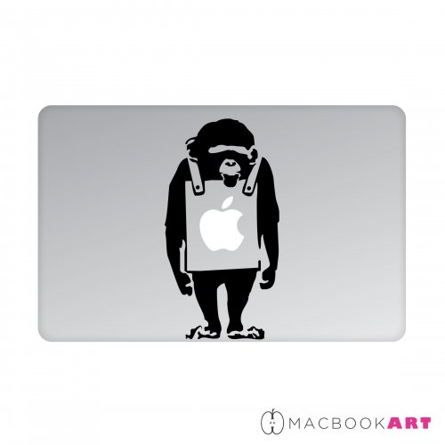 MACBOOKART Designsticker für Apple Produkte - Strange Monkey